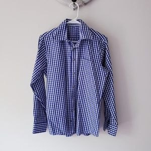 Other - Checkered Blue Men Button Down Casual Shirt